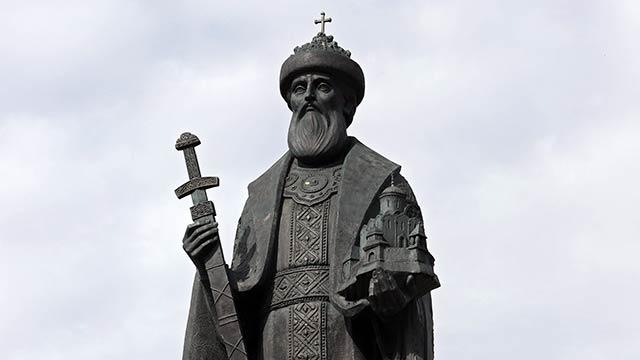 Памятник святому благоверному князю Даниилу Московскому | Московский Данилов монастырь
