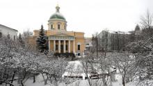 Первый снег в обители князя Даниила   Московский Данилов монастырь