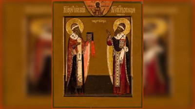 Обретение мощей святителей Гурия, архиепископа Казанского, и Варсонофия, епископа Тверского (1595) | Московский Данилов монастырь