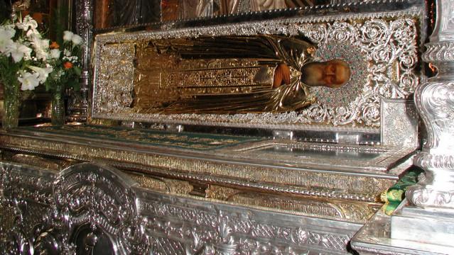 Обретение честных мощей преподобного Сергия, игумена Радонежского (1422)   Московский Данилов монастырь